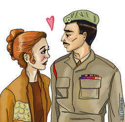 Doctor Who - Liz Shaw and The Brigadier