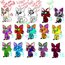 Cutsey cheap adoptables!! by girorofan101