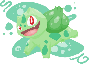 National Pokedex- Number 001- Bulbasaur by girorofan101