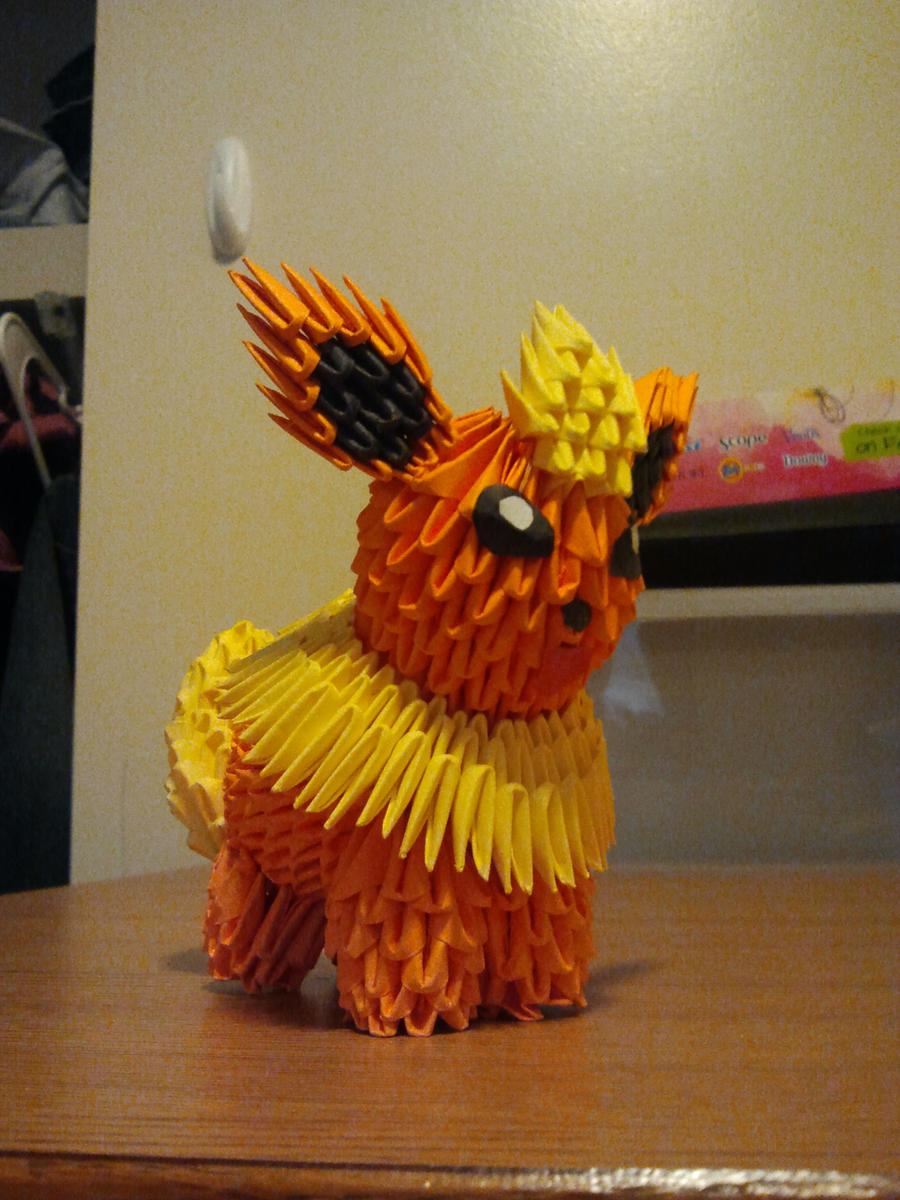 3d origami squirtle pokemon by unsjn on deviantart 3d origami flareon by pokegami jeuxipadfo Images