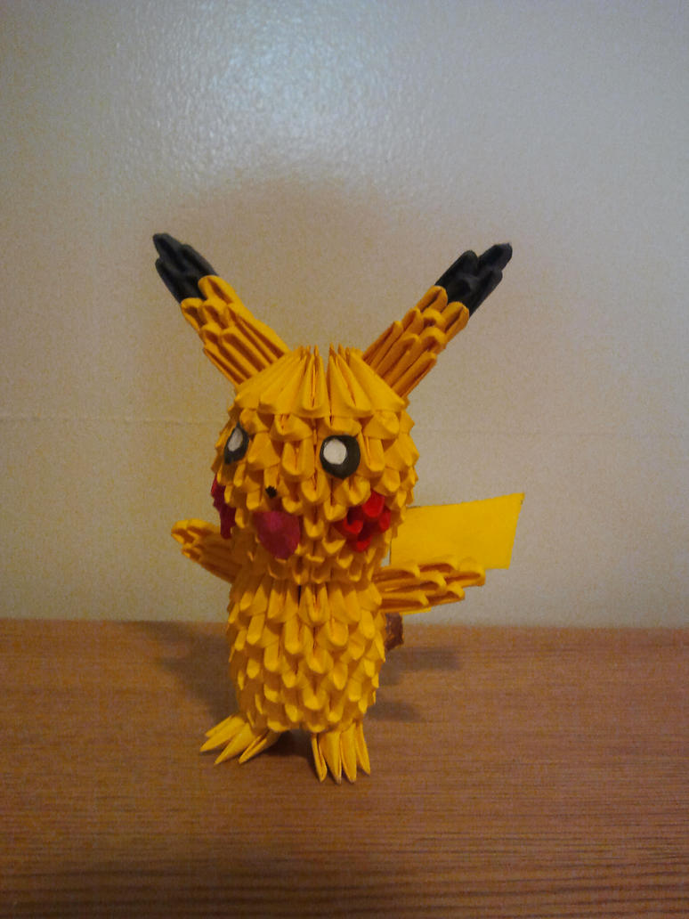86 3d Origami Pikachu Instructions How To Create A 3d Origami
