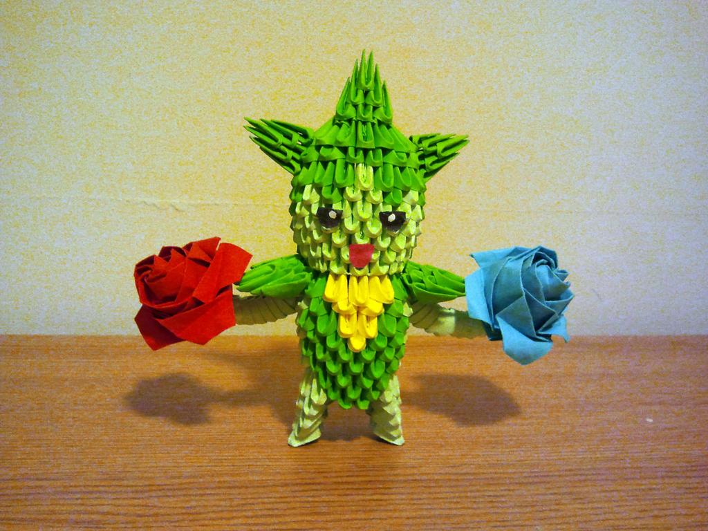 3D Origami Roselia by pokegami on DeviantArt - photo#26