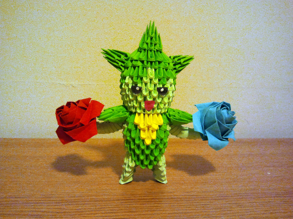 3D Origami Roselia by pokegami