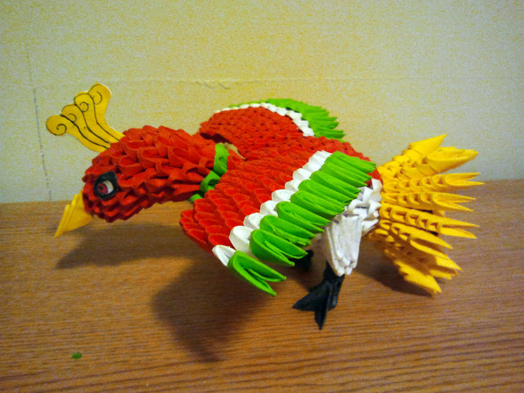 3D Origami Ho-Oh by pokegami on DeviantArt - photo#5