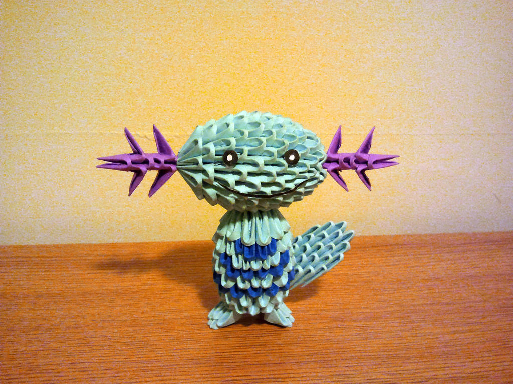 3D Origami Wooper by pokegami - photo#10