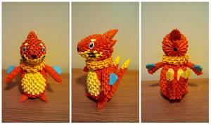 3D Origami Buizel