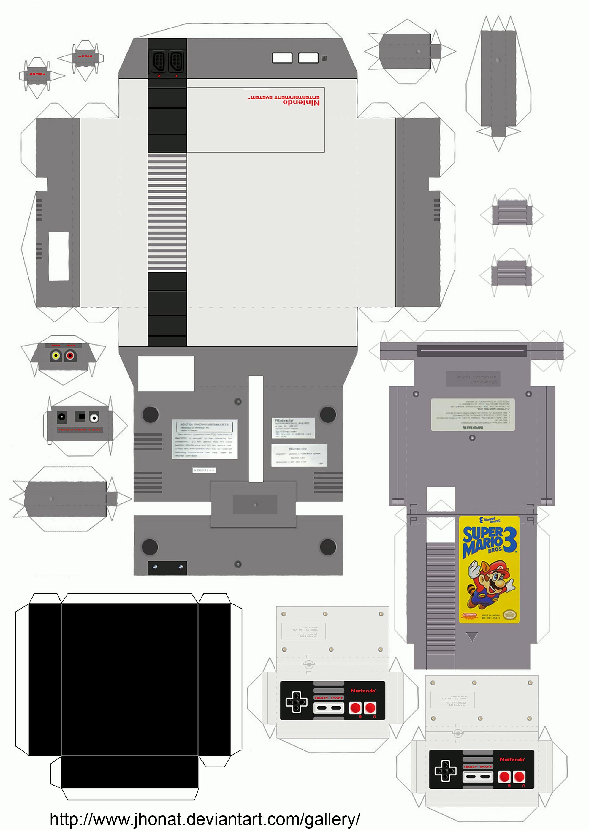 NES Papercraft