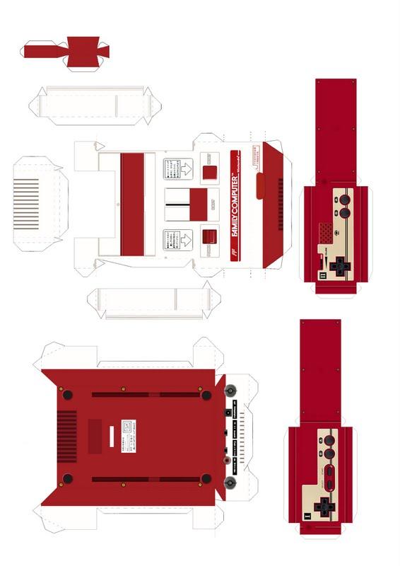 Famicom Papercraft - Template