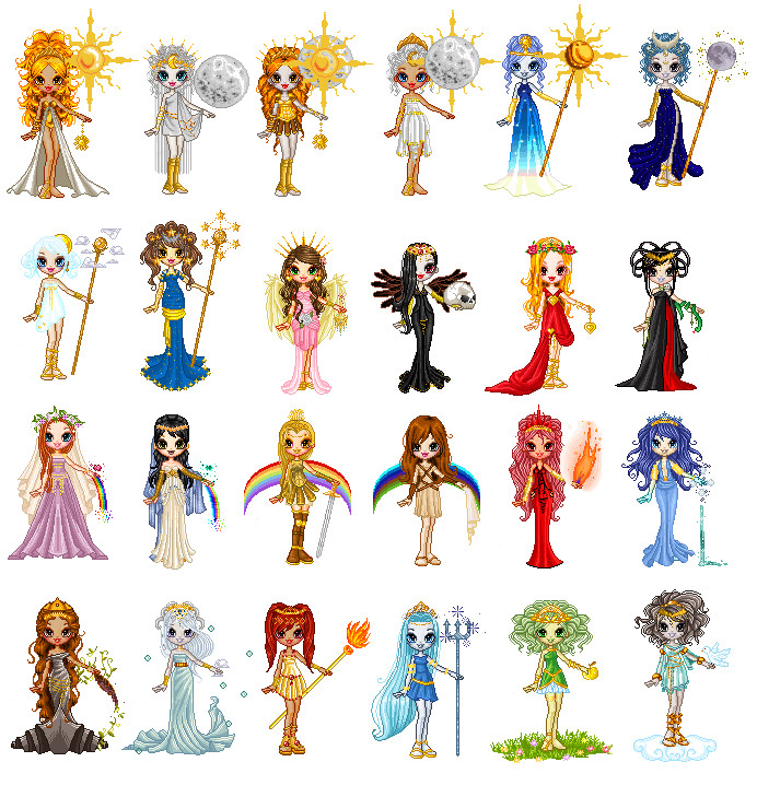 Greek Gods And Goddesses Chibi Images & Pictures - Becuo Viking Gods Family Tree