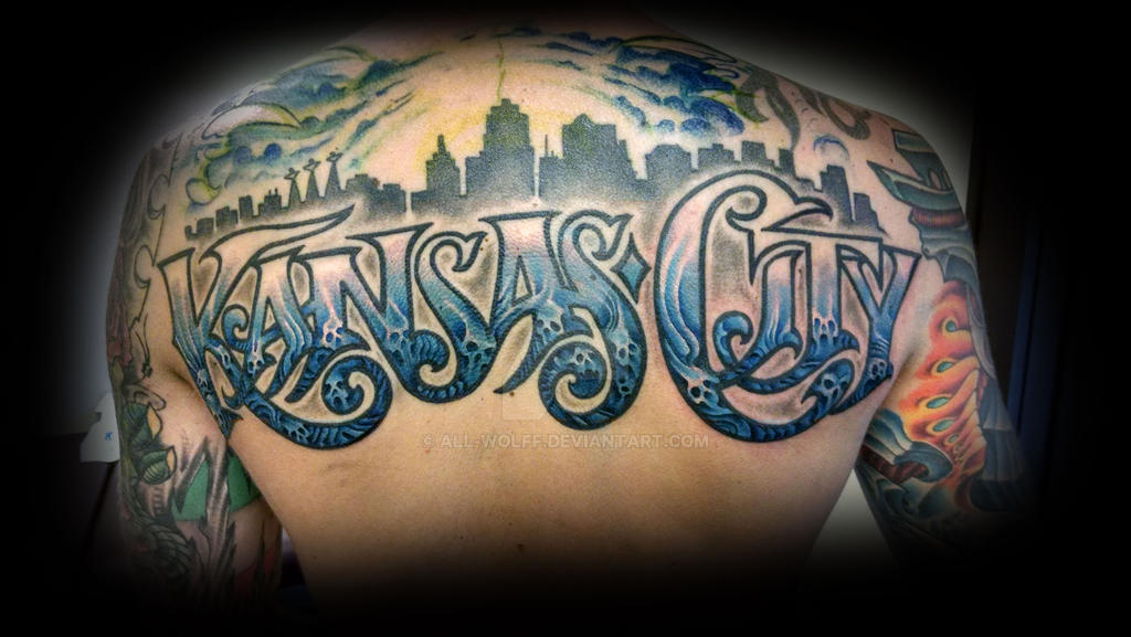 Kansas city top rocker tattoo by all wolff on deviantart for All city tattoo