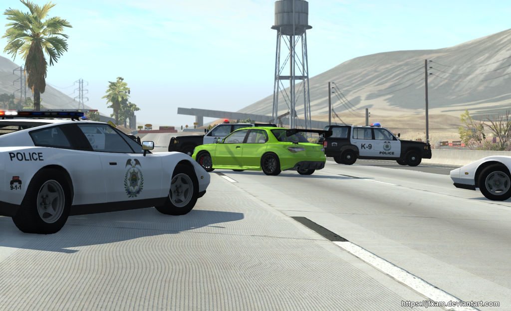 (BeamNG.drive) Busted.