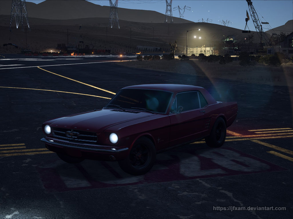 (Need For Speed: Payback) Mustang '65, Close up
