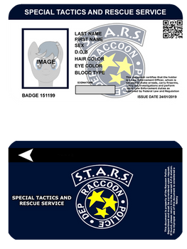 (Resident Evil) STARS Identification Card
