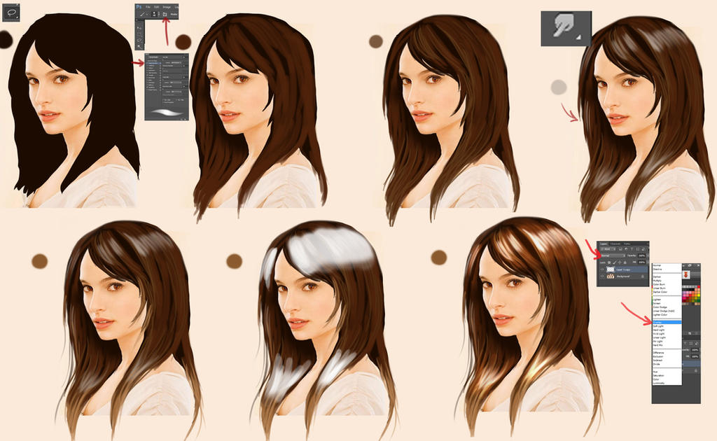 how to change backrgound colour behind hair in photoshop