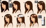 Quick digital Hair Tutorial