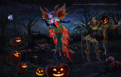 Aiyana and Xull'rae Enchanting Halloween 2014 by SYoshiko