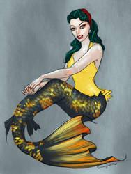 rockabilly mermaid by SYoshiko
