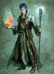 Elf Wizard dnd by SYoshiko
