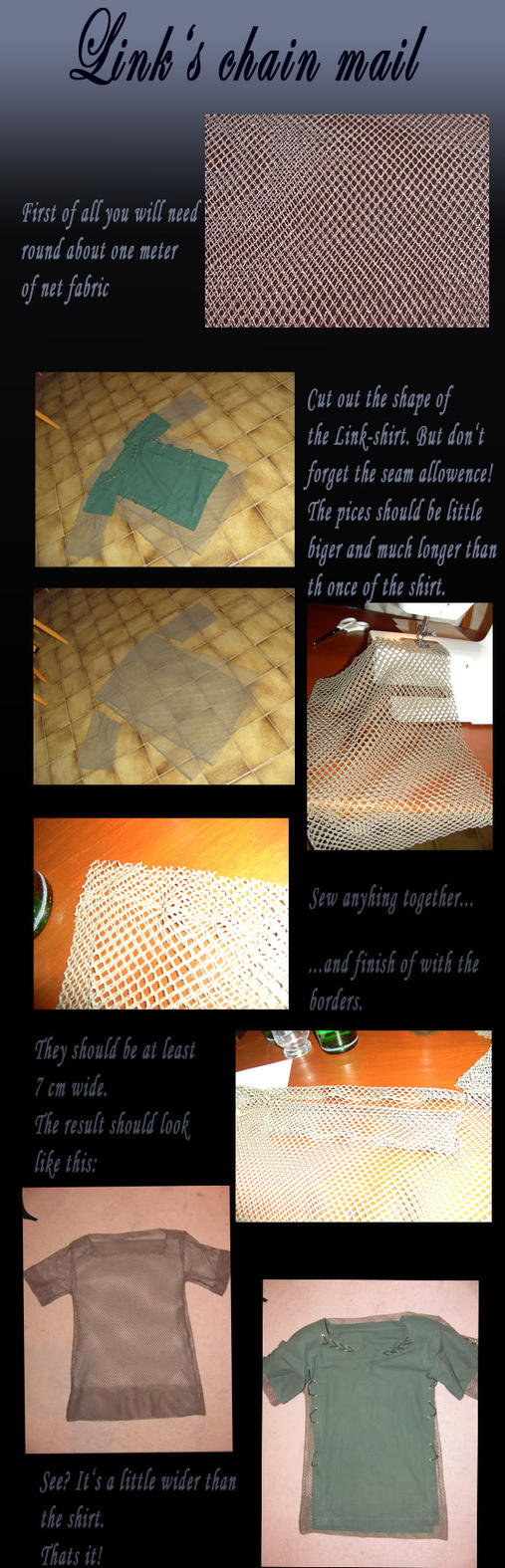How to make Link's chain mail by Eressea-sama