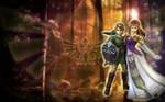 Link + Zelda - Wallpaper