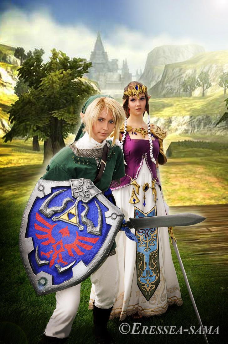Link Cosplay - protecting you by Eressea-sama