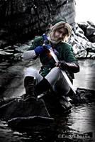 Link Cosplay - Preparing The Sword by Eressea-sama