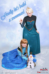 Finally let's build a snowman - Elsa Cosplay by Eressea-sama