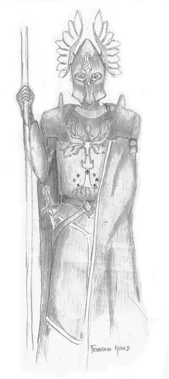 Minas Tirith Fountain Guard By Xjackz On Deviantart