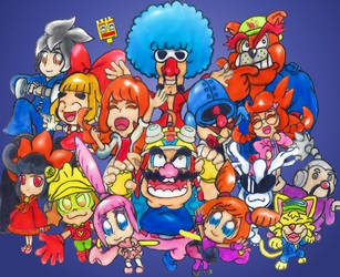 WarioWare Nightclub Daze by DreamyDawn65