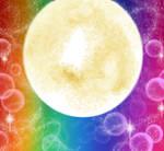 Moon Sparkling Background