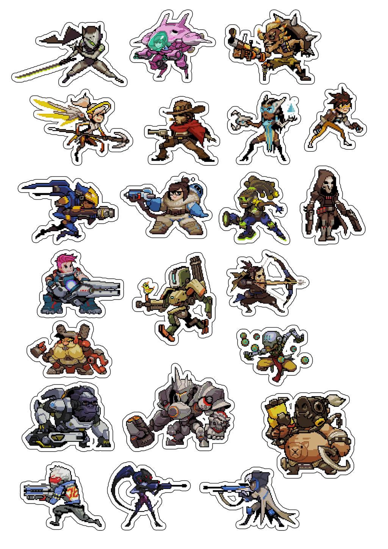 Overwatch Pixel Sprays Stickersheet 03 By Misterbung On