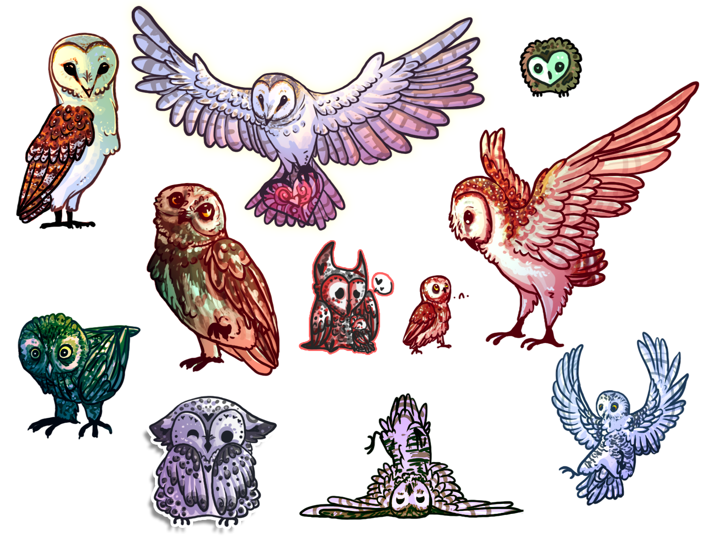 the army of owls by necktiepom on deviantart