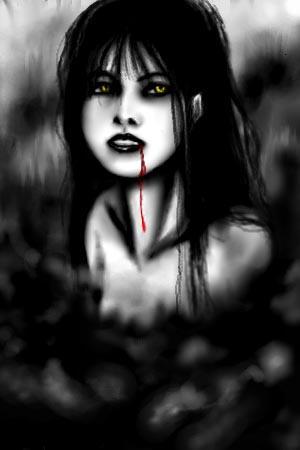 Oekaki - Dracula Lady by djmidori