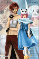 Elf lady and Pixie girl by djmidori