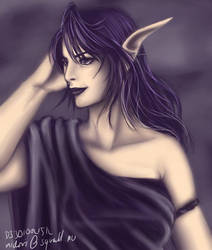 Dark Elven Queen by djmidori