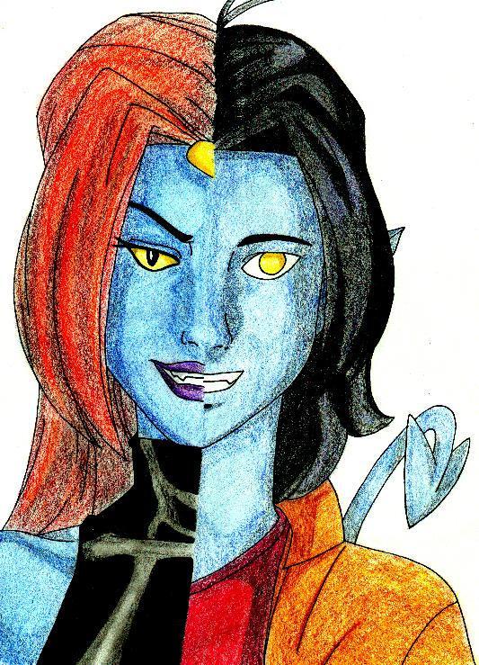 Mystique and Nightcrawler by rinean1224 on DeviantArt