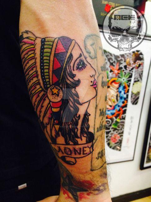 adadc340b Traditional native american tattoo by Taino-Design on DeviantArt