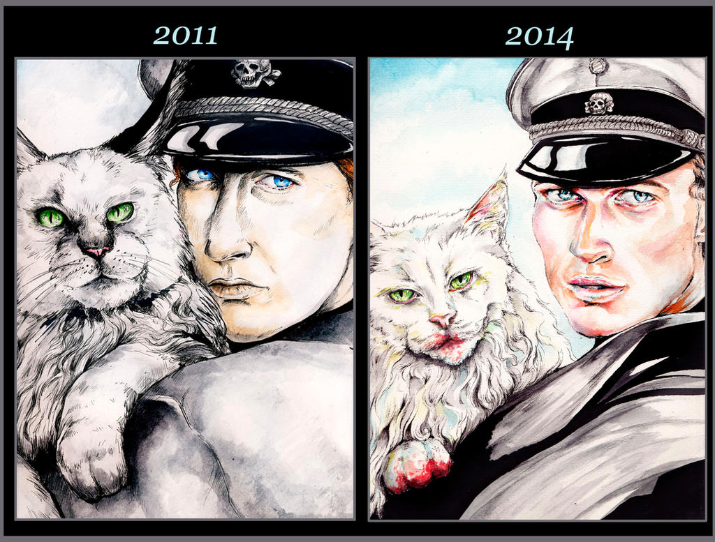 Katze: Before and After by ApocalypticPorcelain