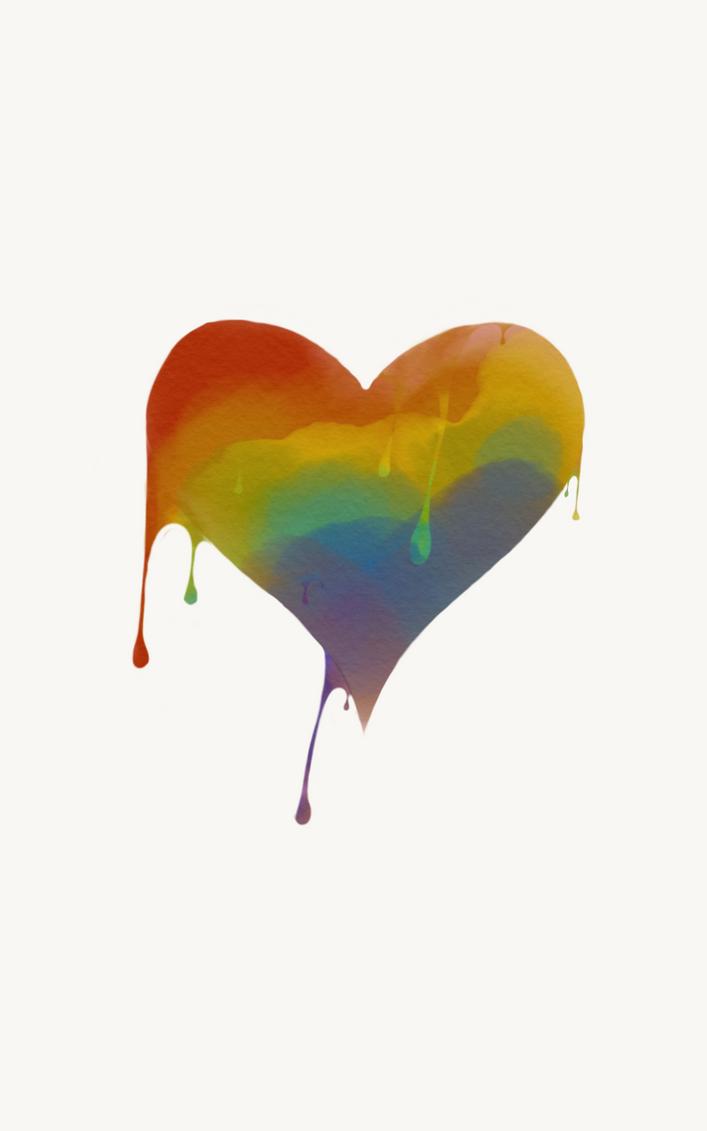 Dripping Rainbow Heart by Loprocks