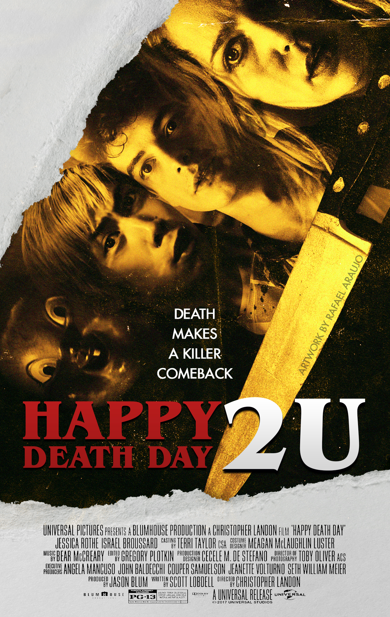 Happy Death Day 2U (2019) Vintage Cast Poster by amazing