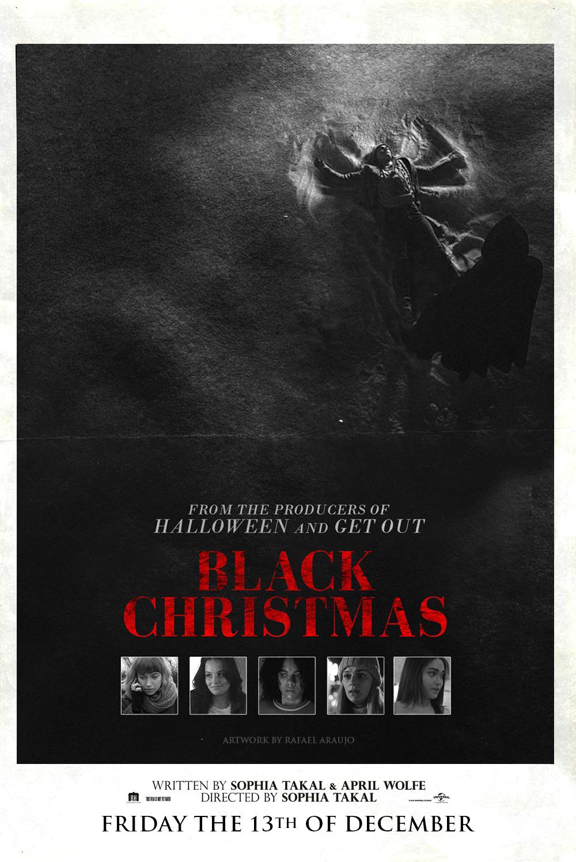 BLACK CHRISTMAS (2019) Vintage Poster