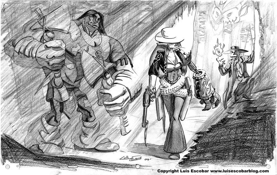 High Fantasy Western by LuisEscobar