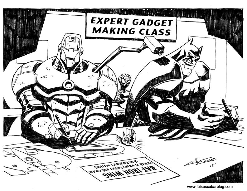 Batman vs Iron Man by LuisEscobar