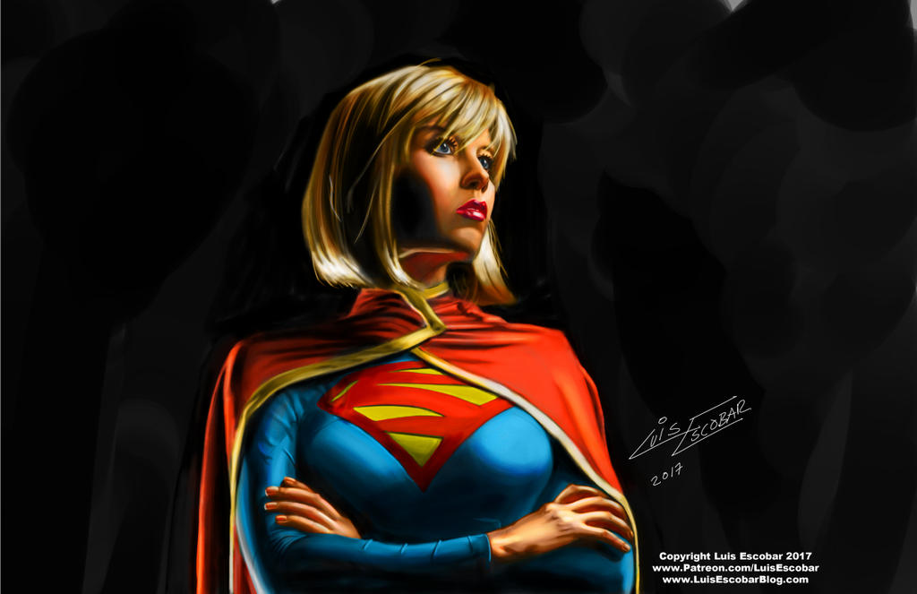 Supergirl Digital Painting by LuisEscobar