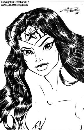 Wonder Woman Postcard by LuisEscobar