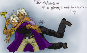 Definition of a Glomp: Colored by Meeps