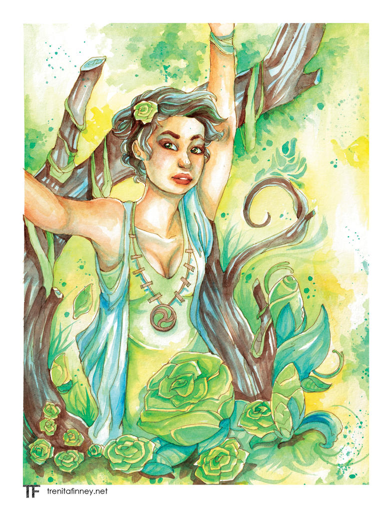 Green Rose by Nini-Syllestial