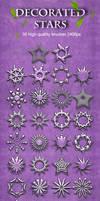 30 Decorated Stars