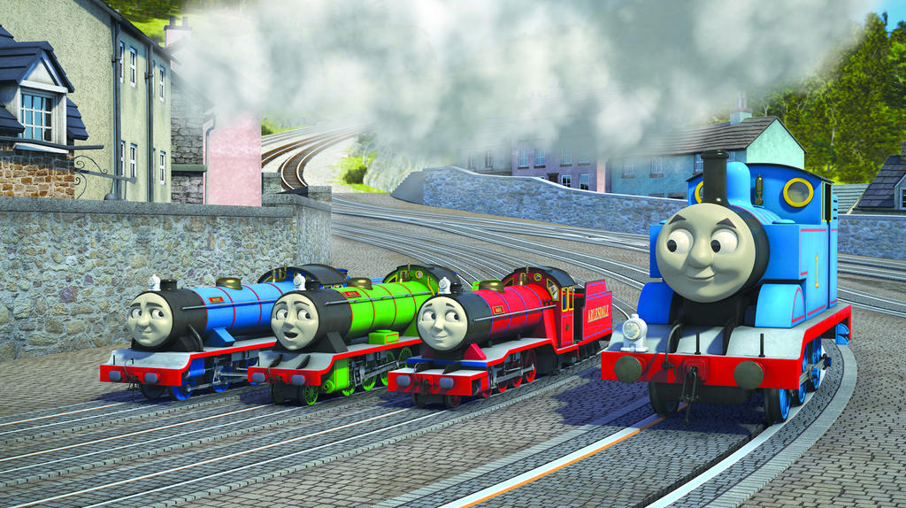 thomas and the minis by rattlerjones on deviantart