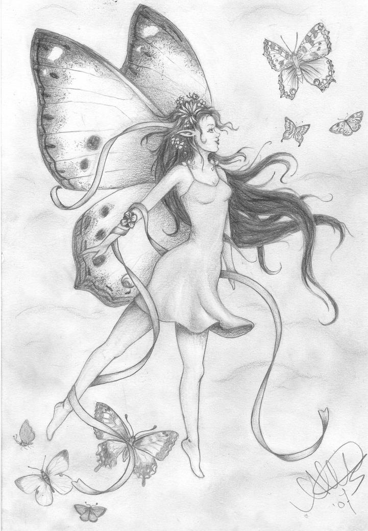 Dark Fairies Drawings Easy Pencil Drawings of Dark